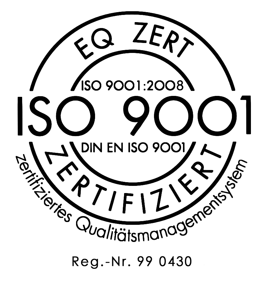 iso zertifikat 2008 mit Text